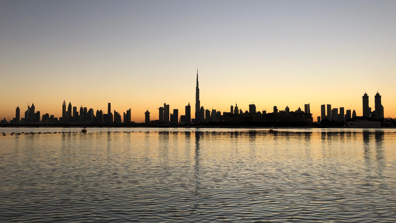 Dubai sunrise beach