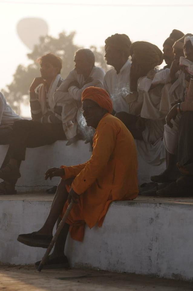 Man at Pushkar Camel Fair India