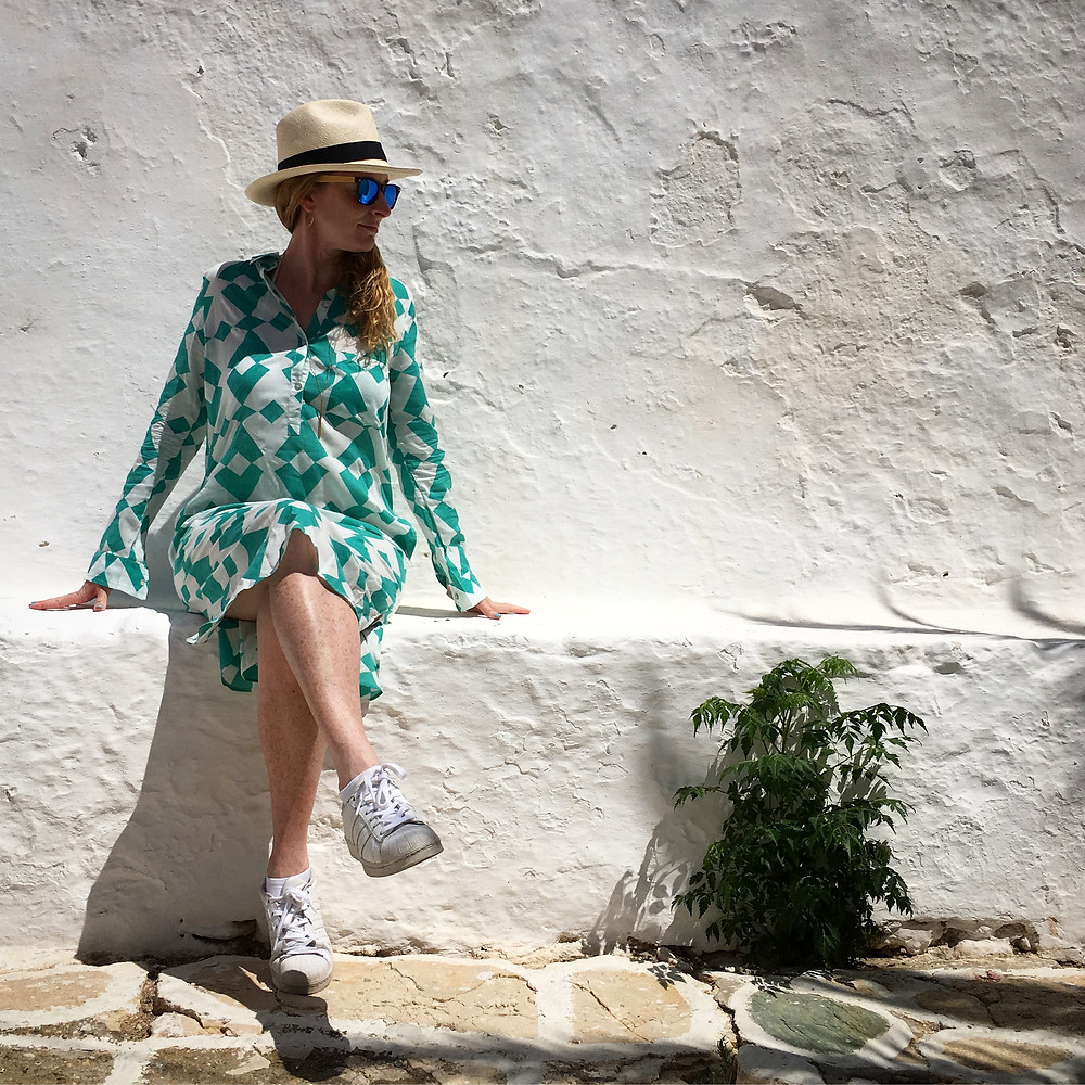 Nicola Chilton in Folegandros, Greece