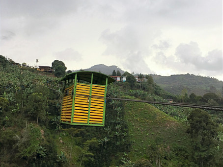 Adventure travels with my parents - crossing a Colombian ravine in a rickety box and other stories