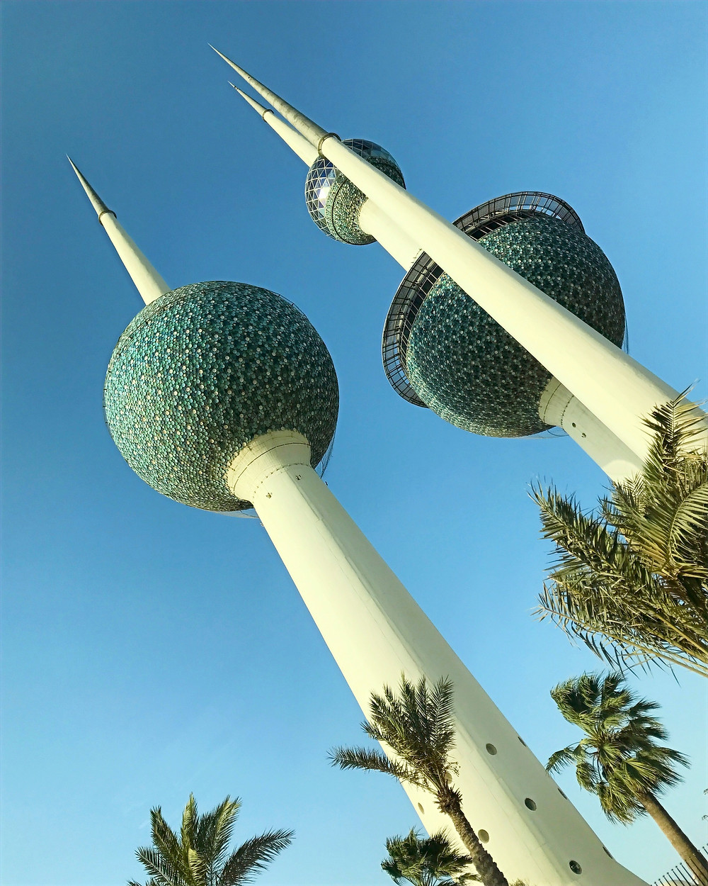 Kuwait Towers blue sky