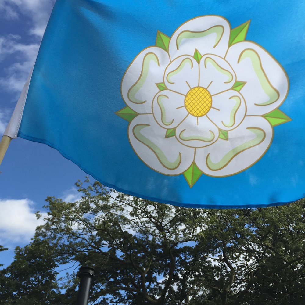 Yorkshire flag with white rose
