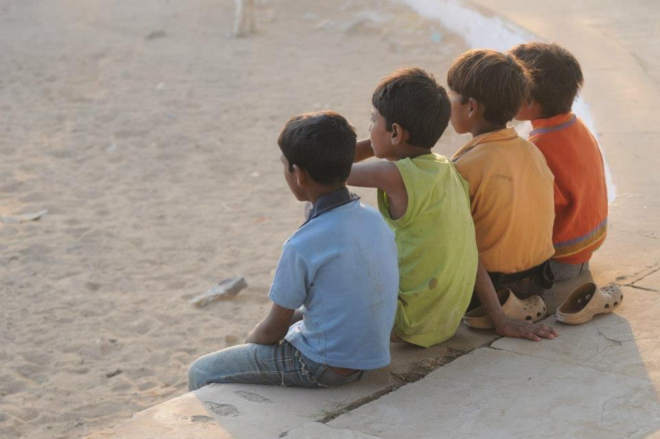 Boys at Pushkar Camel Fair India