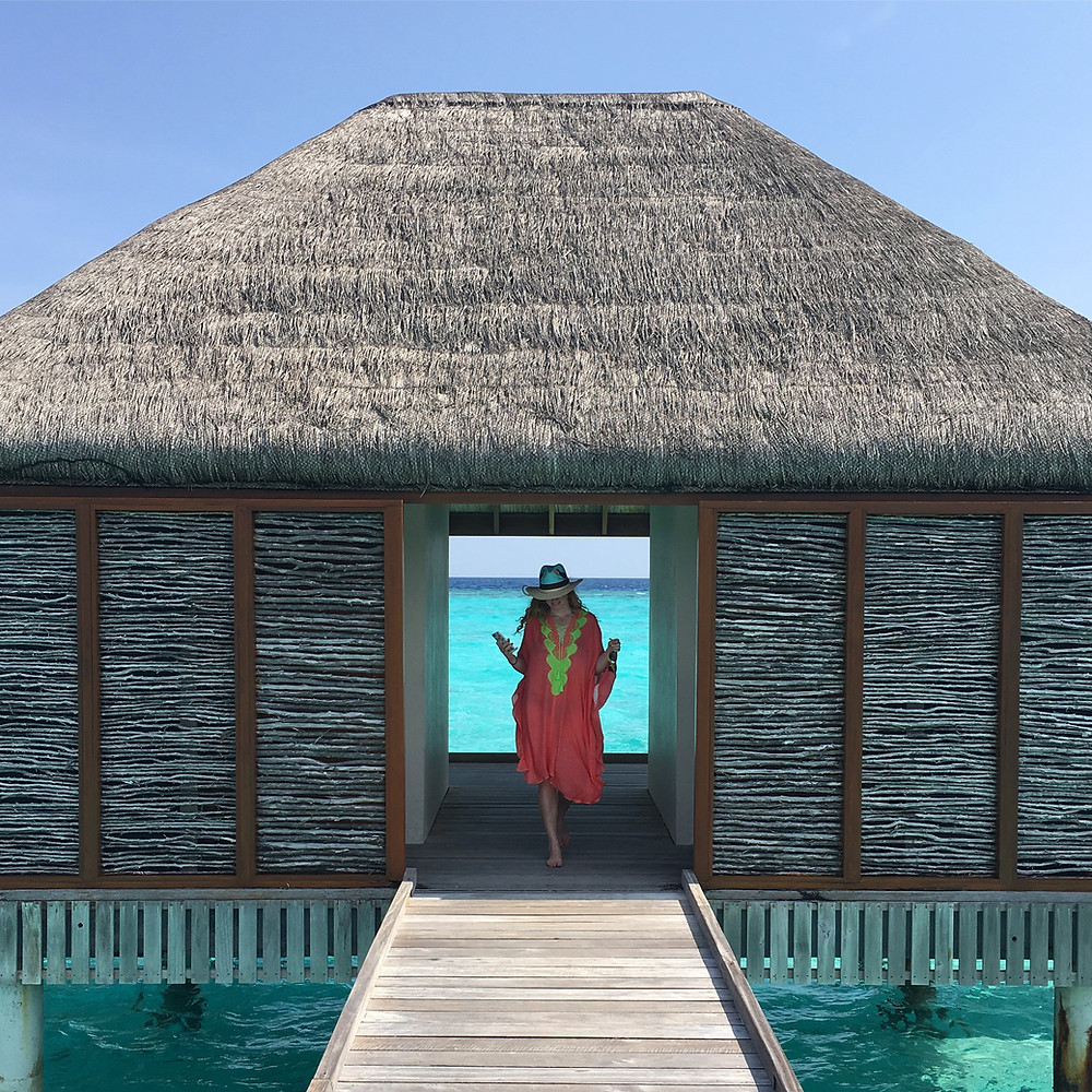 Nicola Chilton in the Maldives