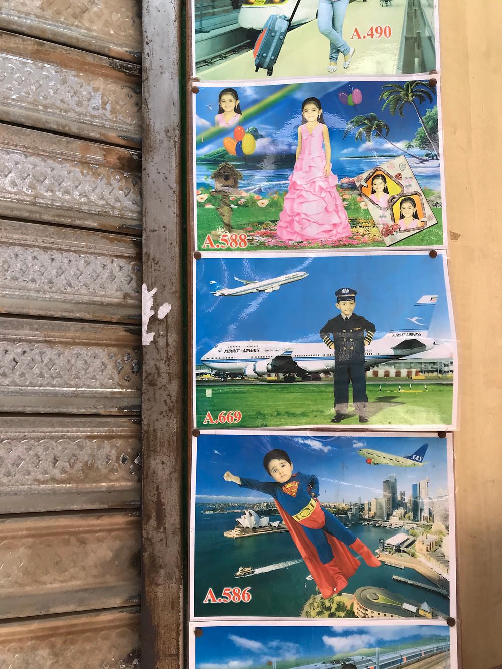 Souq Al Mubarakiya children's portrait studio