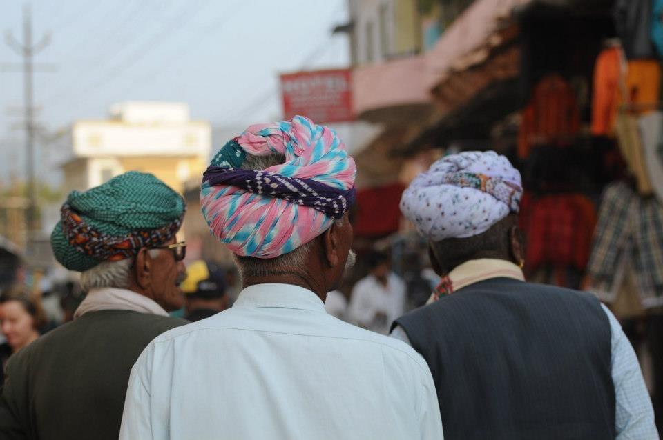 Men in turbans at Pushkar Camel Fair India