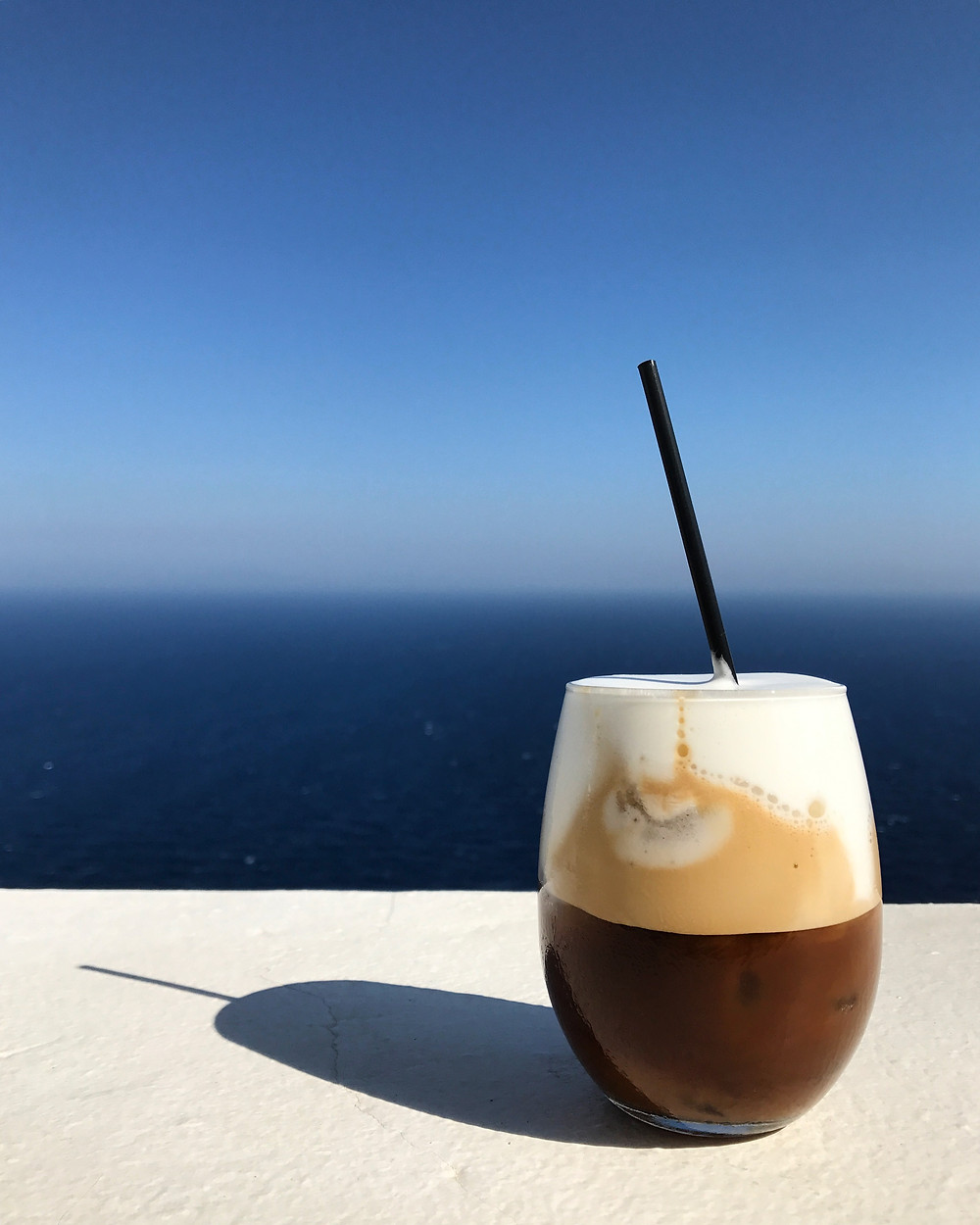 Freddo Cappuccino in Folegandros, Greece