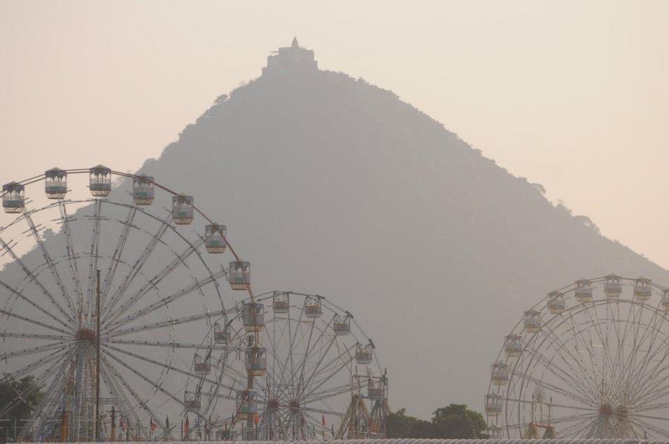 Sunset at Pushkar Camel Fair
