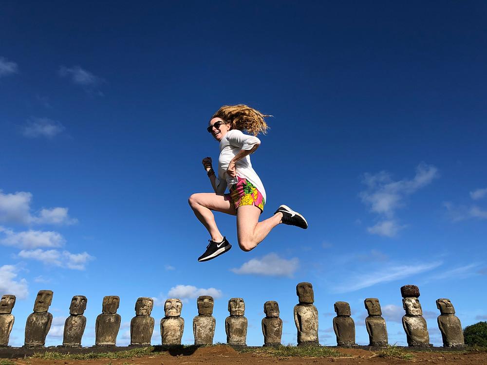 Nicola Chilton in Easter Island