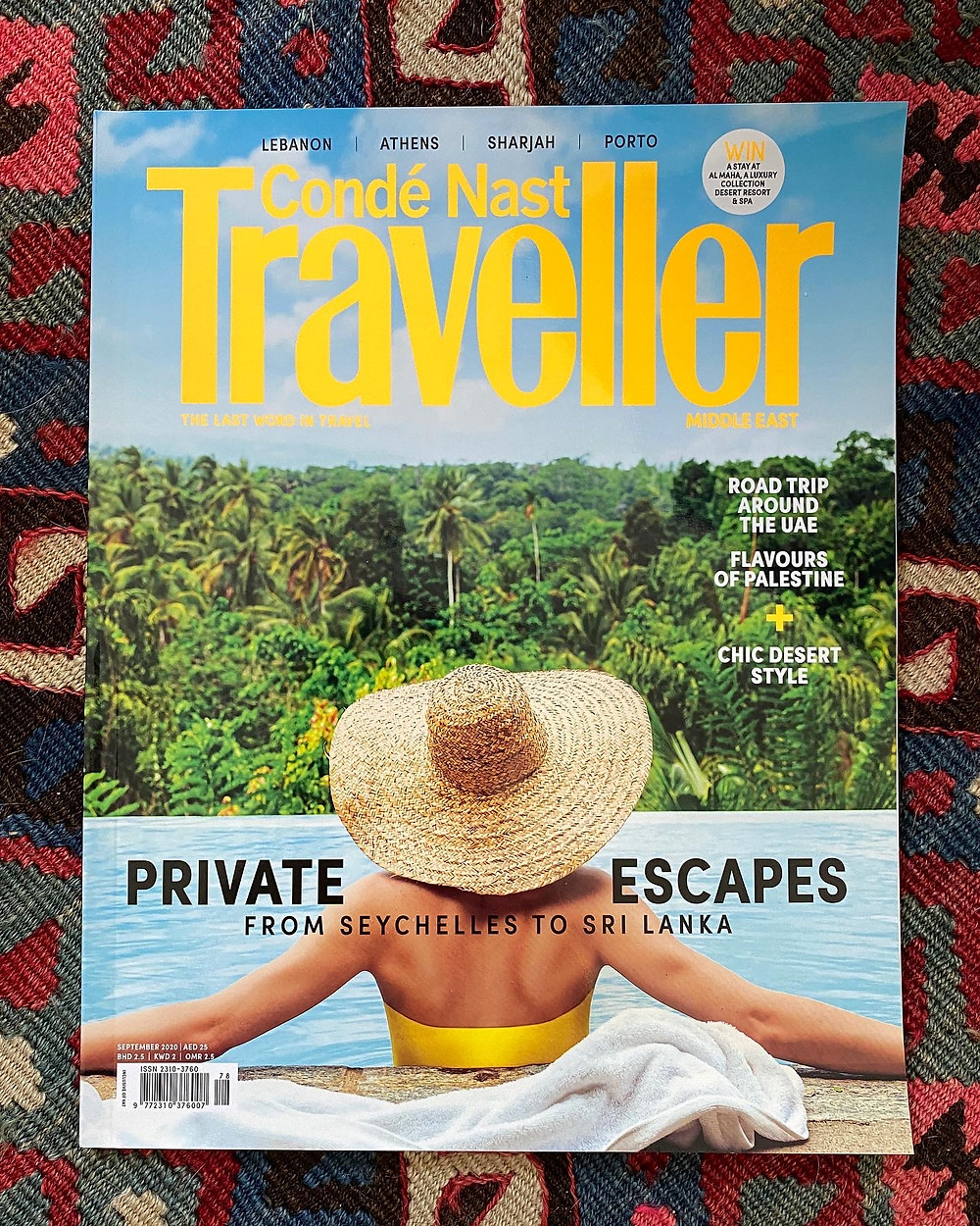 Cover of September 2020 issue of Condé Nast Traveller Middle East