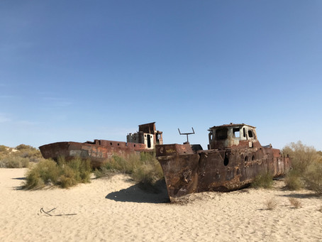 The Aral Sea Ship Graveyard