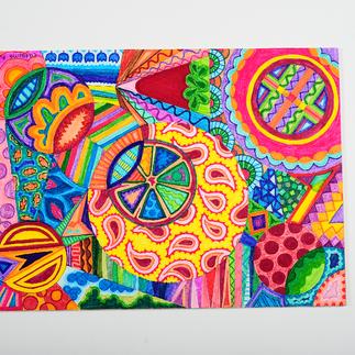 Serie 'Mundo dulce' Técnica: Marcadores Dimensiones: 22x28cm Año: 2011