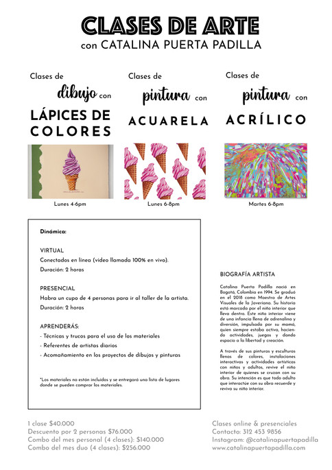 Clases de arte con Catalina Puerta Padil