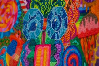 Título: Ojos de princesa  Técnica: Mixta con plastilína Año: 2011 Dimensión: 21.5 x 28 cm