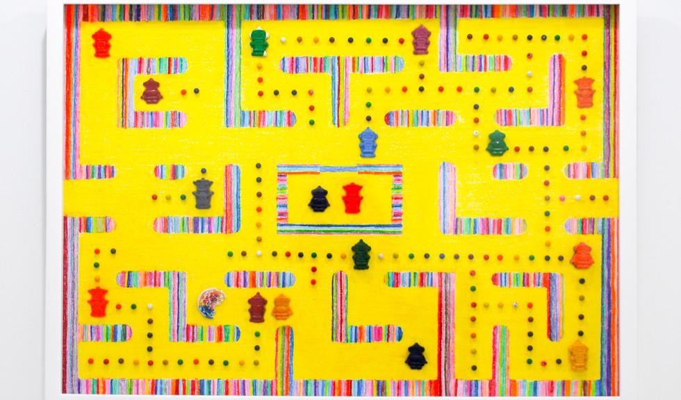 Conocer la vida jugando (Pacman) De la serie: Crecer sin perder la niñez 2 72x52cm Crayola 2019
