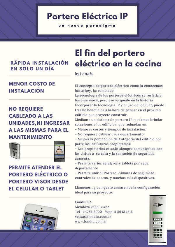Sistema de portero electrico en el celular para obras nuevas