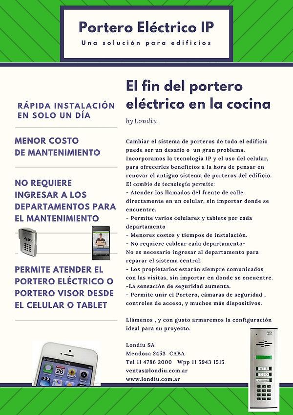 Portero eléctrico en el celular para consorcios