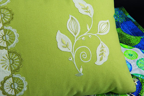 Cushion Embroidered with Bernina Embroidery Machine