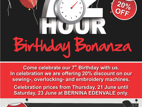 72 Hour Birthday Bonanza