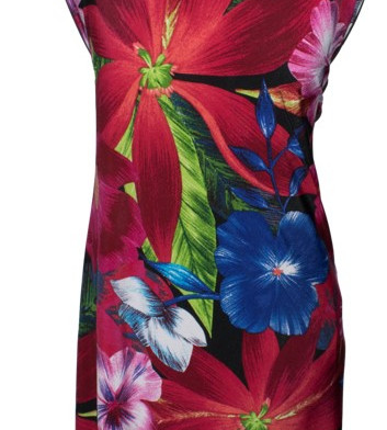 Knit Floral Print Dress Layout
