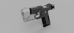 CyberPunk Militech Pistol v19