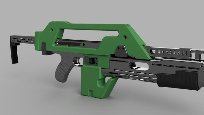Alien Pulse Rifle 3D Print Update