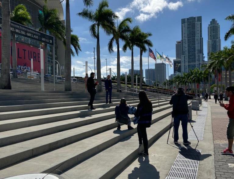 Julio Sonino (KRH Media) with Miami Talent Studios and a talented team directing Mathias Prando's Mala Music Video in Miami