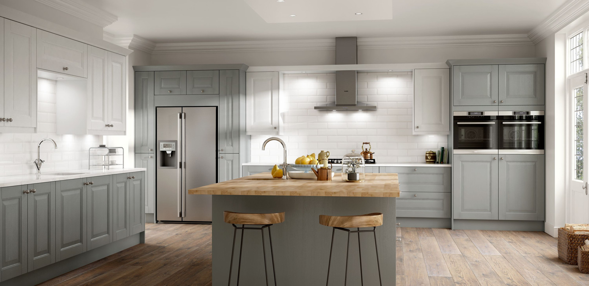 Wexford Cobble Grey and Chalk White