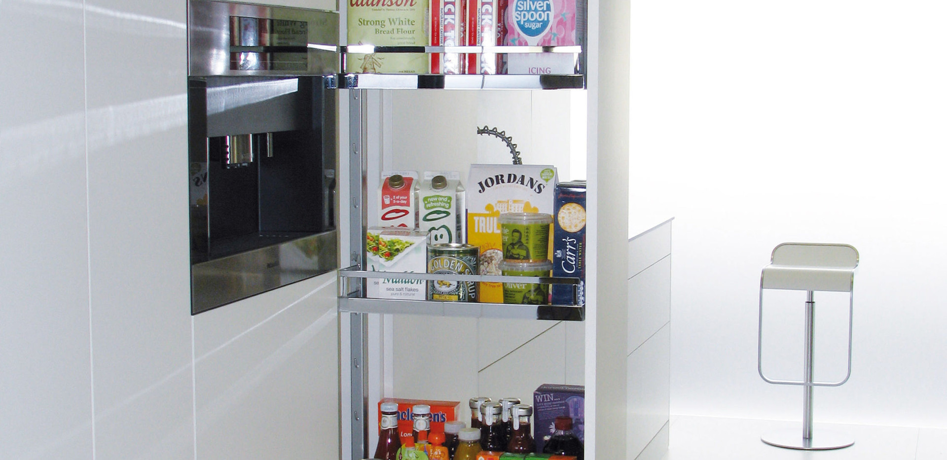 Larder with Chrome Pull Out