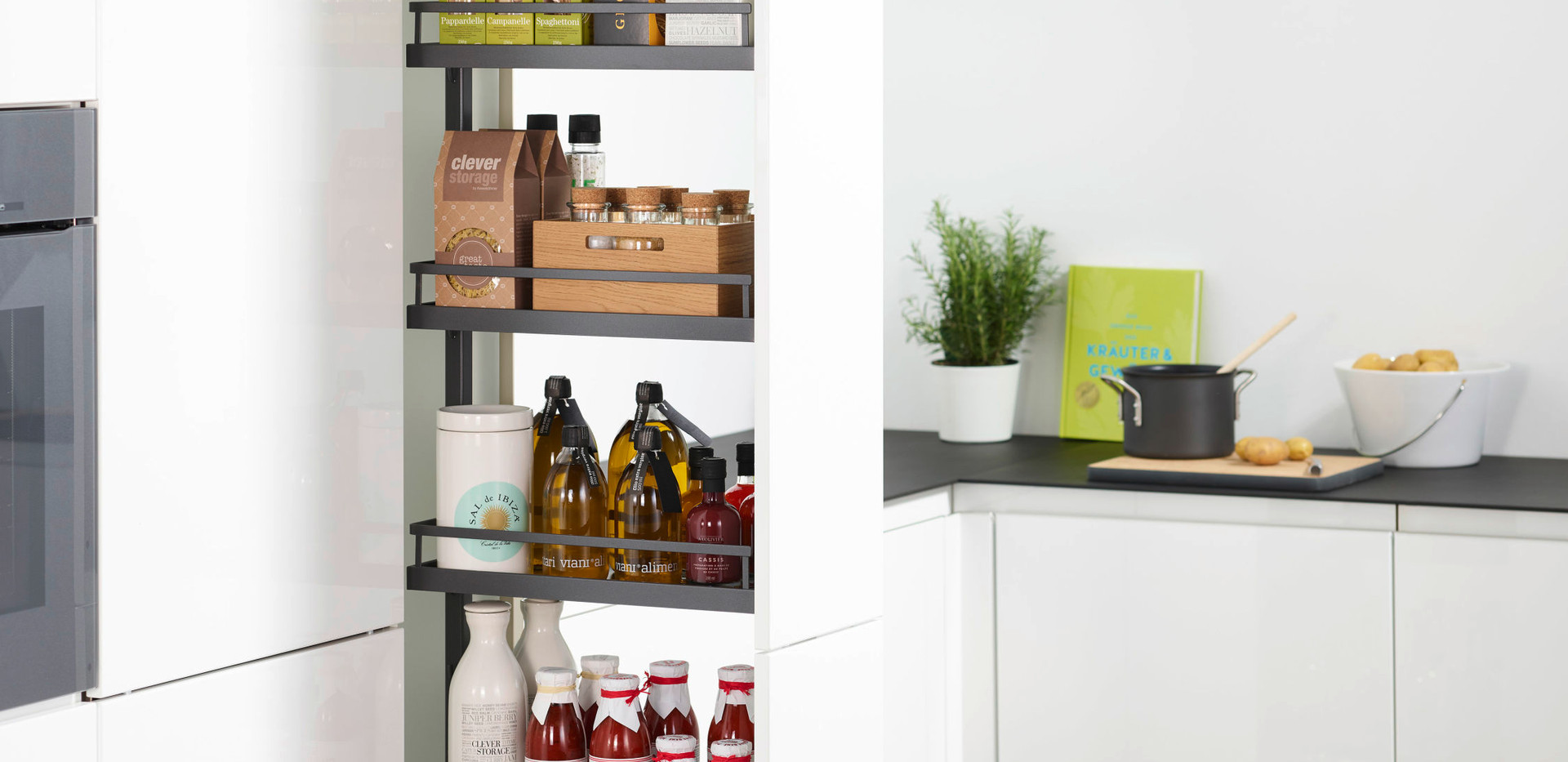 300 Larder Unit with Anthracite pull out