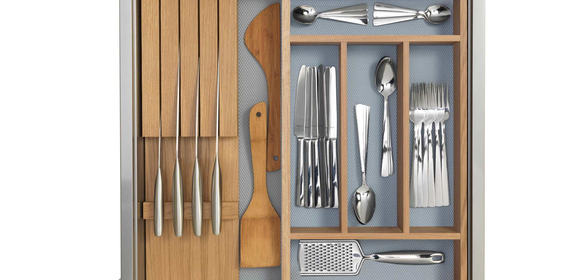 Knife Block and Cutlery Tray