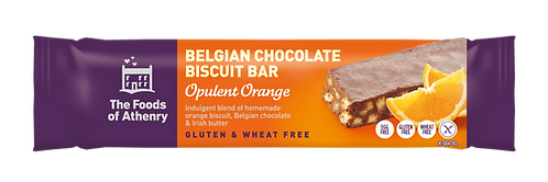 BELGIJSKI CZEKOLADOWY BATONIK OPULENT ORANGE od Foods Of Athenry®, 55g