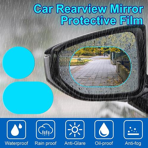 2PCS Anti Fog Car Mirror Window Clear Film Anti-Glare Waterproof Rainproof