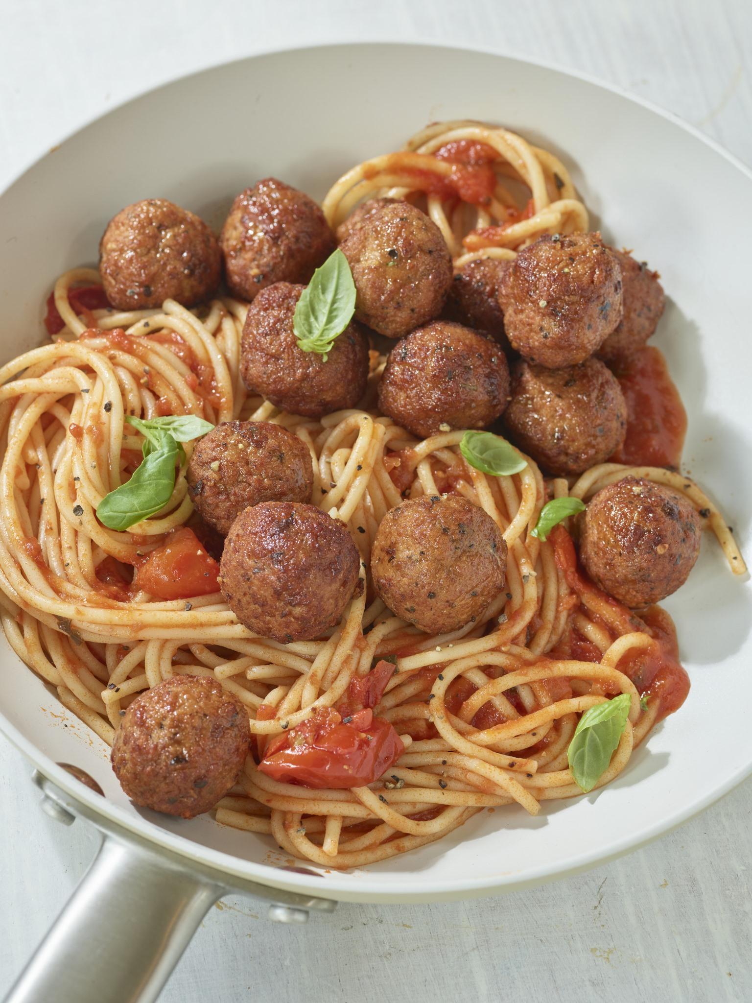 Tomato and Basil Meatballs