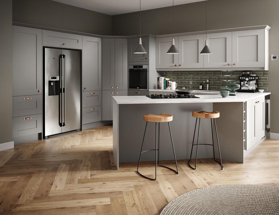 Cranbrook Cobble Grey and Platinum