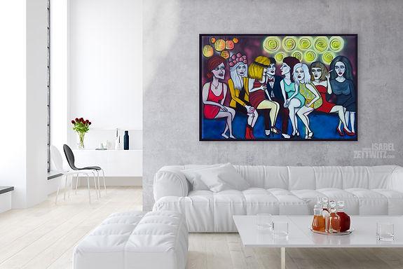 Wandkunst - Bild aus der Serie Die Gesellschaft von Isabel Zettwitz