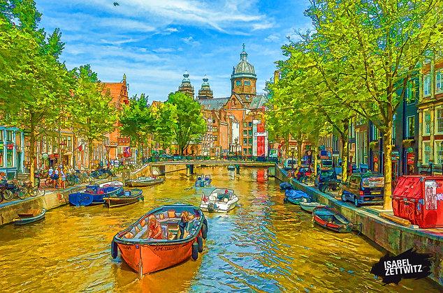 GRAPHIC NOVELS AMSTERDAM: Gracht und Sint-Nicolaaskerk