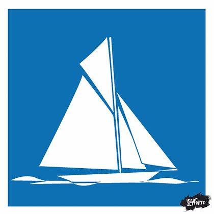 GRAFIKEN Segelboot I