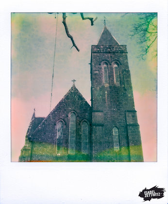 POLAROID PRINT Kirchturm