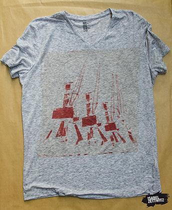 """T-Shirt """"Kräne rot"""" XL"""