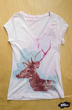 """T-Shirt """"Hirsch"""" - Unikat"""