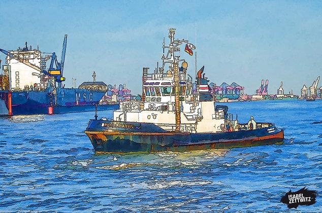 GRAPHIC NOVELS: Schlepper im Hamburger Hafen