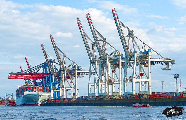GRAPHIC NOVELS: Kräne im Hafen