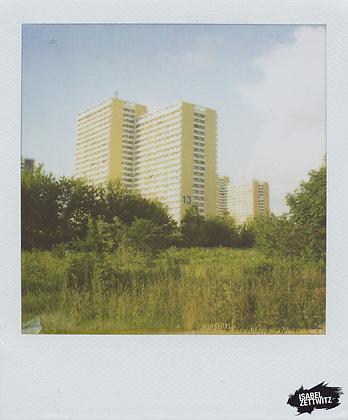 POLAROID PRINT Hochhäuser