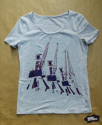 "T-Shirt ""Kräne"" - Unikat"