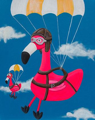 Volker geht Fallschirmspringen