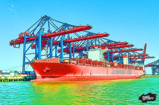 GRAPHIC NOVELS: Containerschiff von der Hamburg Süd