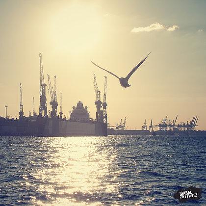 Blohm & Voss und Hamburger Hafen
