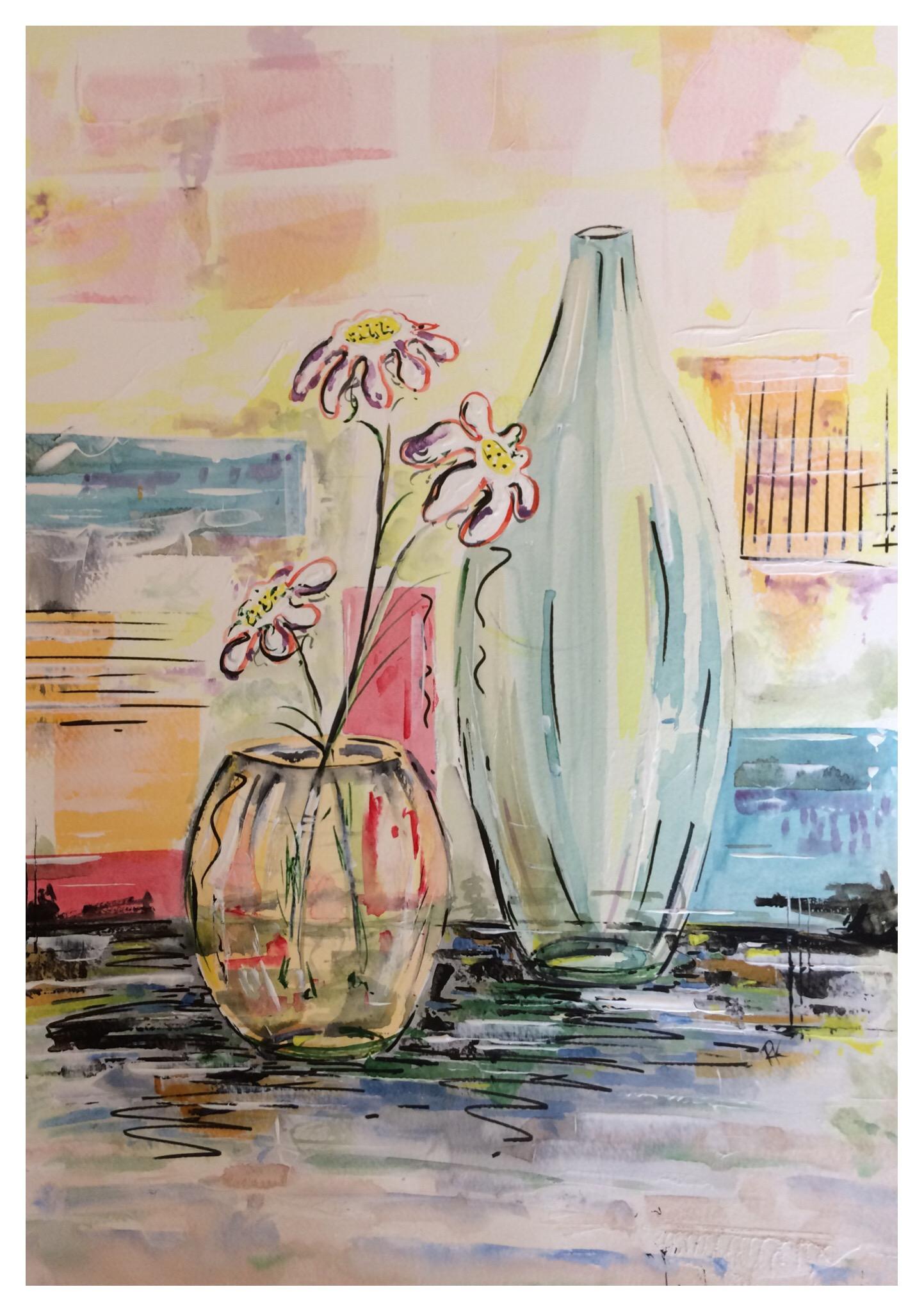 Vase and Flower Bowl