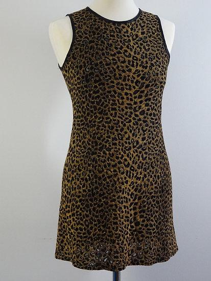 90's Leopard Print Minikleid  - Größe S